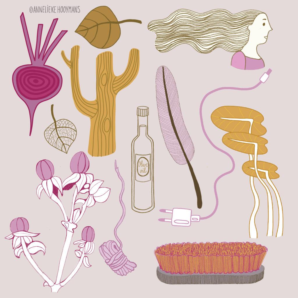 Structuren en patronen, illustratie Studio Annelieke