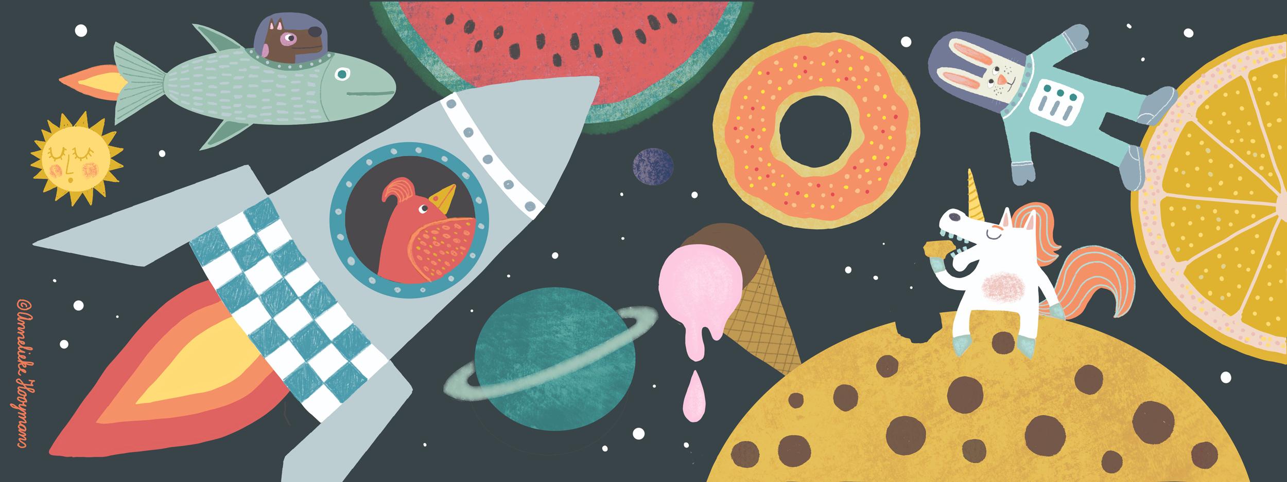 Illustratie gemaakt voor 'They draw and travel'