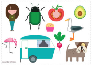 Iconen voor websites of magazines, vector illustraties